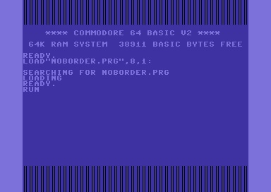C64 remove borders code