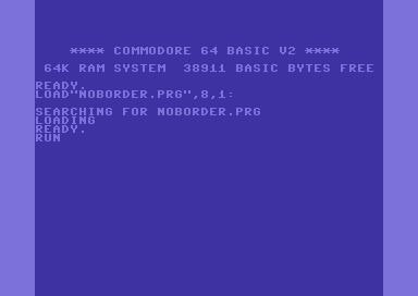 C64 remove borders