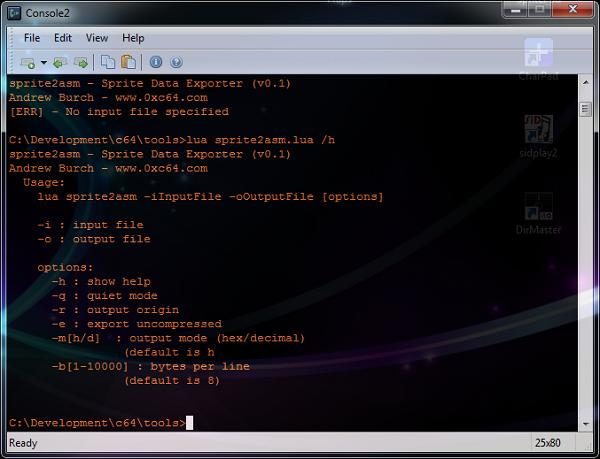 C64 sprite exporter